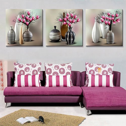 Traditional Vase 3-Piece Crystal Film Art Wall Print