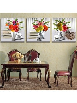 Rich Multicolored Decorations 3-Piece Crystal Film Art Wall Print