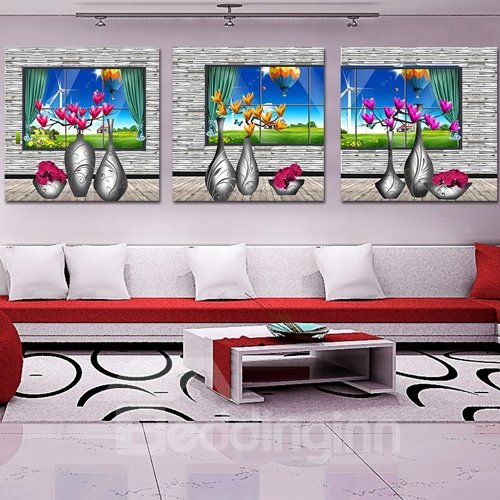 Pretty Magnolia 3-Piece Crystal Film Art Wall Print