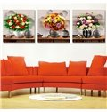 Muti Style Flowers 3-Piece Crystal Film Art Framed Wall Prints