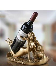 Wonderful Young Slim Beauty Art Design Wine Rack