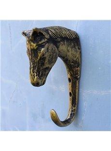 Vintage European Style Horse's Head Iron Hooks