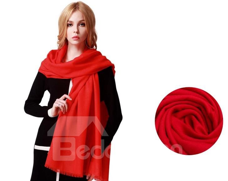 High Quality Huge Size 100% Lamb Wool Shawl Long Scarf
