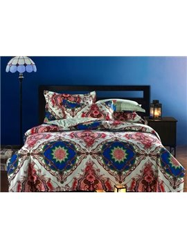 Top Class Vintage Pattern 4-Piece Cotton Duvet Cover Sets