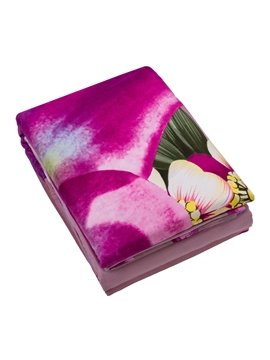 Excellent Pink Lily Print 4-Piece 100% Cotton Duvet Cover Sets