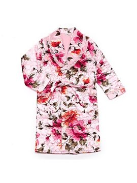 Luxurious Noble Romantic Floral Print Cotton Bathrobe