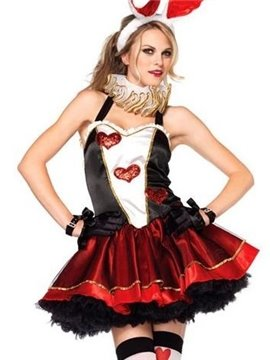 Sexy Mini Layered Skirt Heart Valentine' s Costume