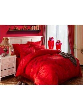 Fancy Rose Print 4-Piece Cotton Duvet Cover Sets