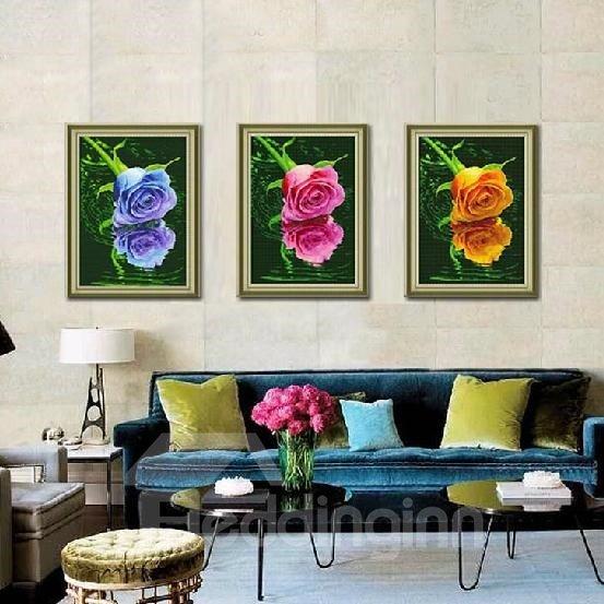 Beautiful Roses 3-Piece DIY Diamond Sticker