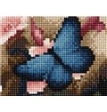 Wonderful Pretty Blue Butterfly DIY Diamond Sticker