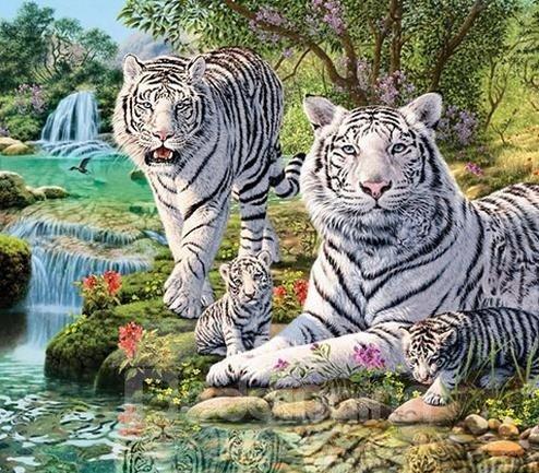 The Tiger Family 1-Piece DIY Diamond Sticker