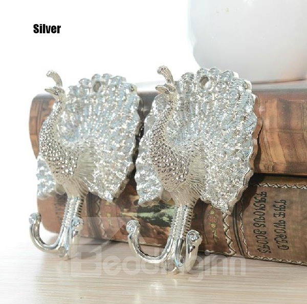 Vintage Peacock Shape European Style 2-piece Hook