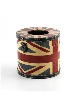 Unique the Union Jack Print Round Tissue Box