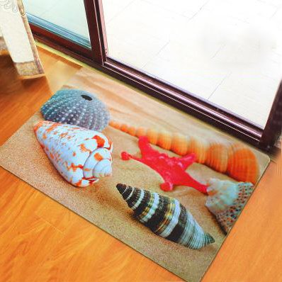 Wonderful Beach Theme Seashells Non-Woven Fabric 3D Doormat