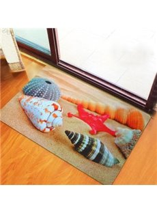 Wonderful Beach Theme Seashells Non-Woven Fabric 3D Doormat