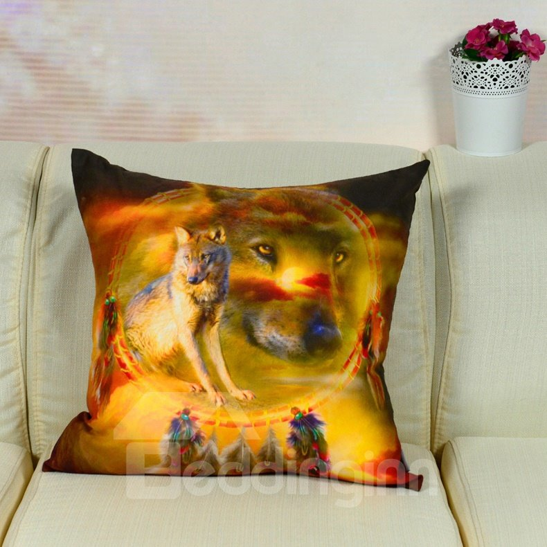 High Visual Effect Forest Woof Printed Throw Pillow