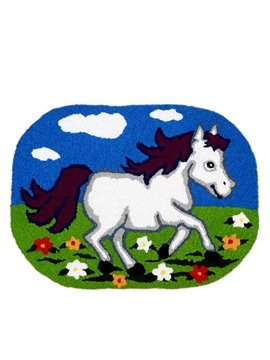 Gorgeous Cartoon Horse Anti-slip Acrylic Fibres Bath Rug