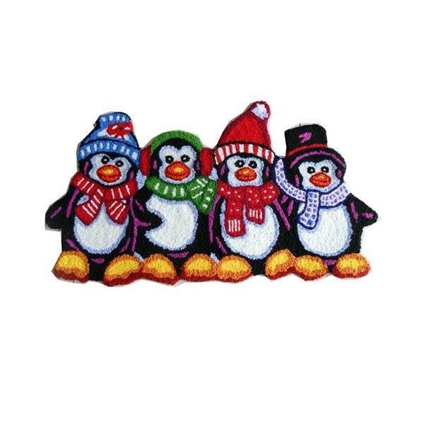 Comfy Attractive Cartoon Penguin Acrylic Fibres Bath Rug