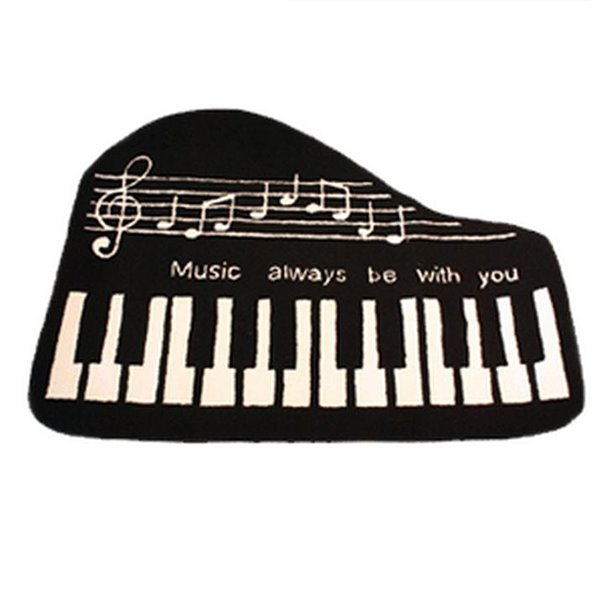 60 Cool Piano Key Soft Anti Slip Bath Rug