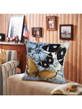 New Arrival Flowers and Butterflies Printed Pillowcase