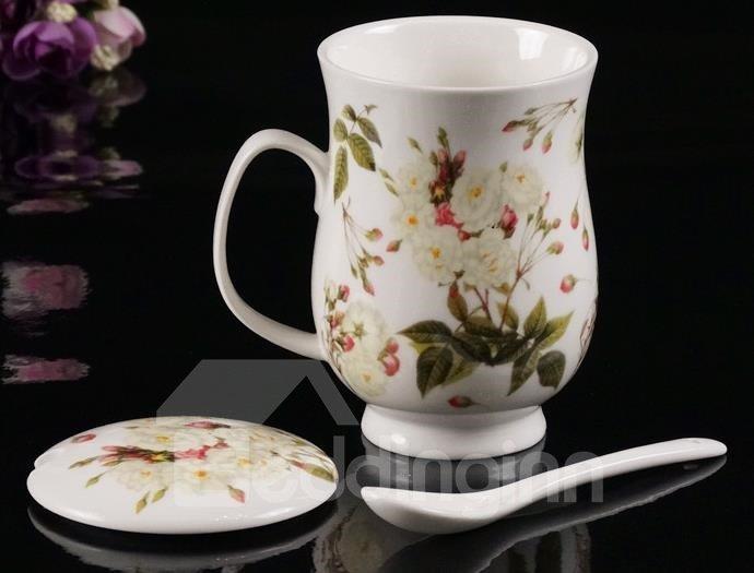 New Classic Elegnat Rain and Dew Roses Coffee Mug