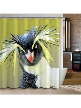 Lively Colorful Bird Thick Mildewproof Germproof 3D Shower Curtain