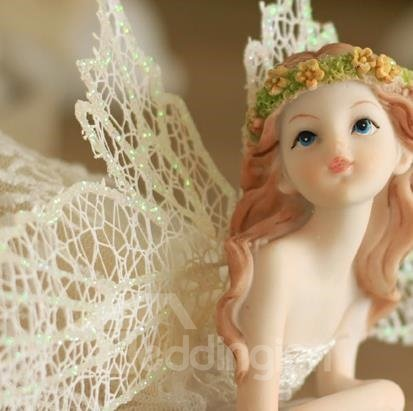 Wonderful Fairy with Wings Desktop Decoration