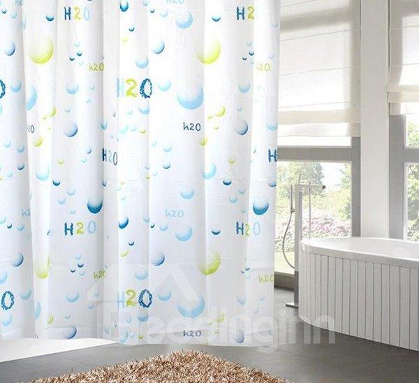 Dreamlike Graceful Blue Water Molecule Shower Curtain