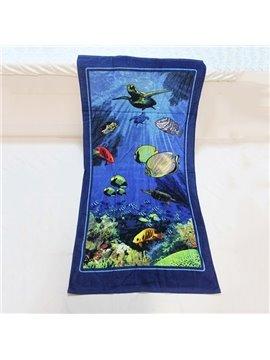 Mysterious Blue Ocean World 100% Cotton Bath Towel