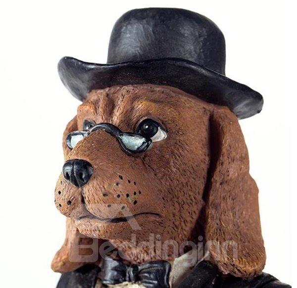 Fancy Decorative Dog Waiter Resin Toilet Paper Holder