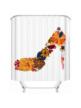 Creative Unique Flower High Heel Print Shower Curtain