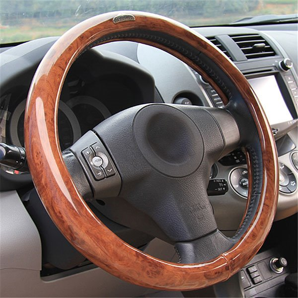 Unique Wood Patern Design And Durable Steering Wheel Covers