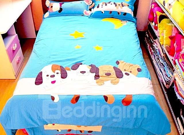 Dog and Star 3-Piece Cotton Bedding Sets