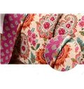 Bohemian Style Floral Print Patchwork Cotton Queen Size 3-Piece Bed in a Bag