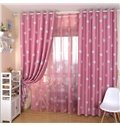 Lovely White Clouds Print Grommet Top Curtain