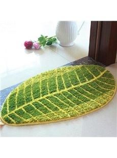 Top Quality Beautiful Water Absorbing Green Leaf Doormat