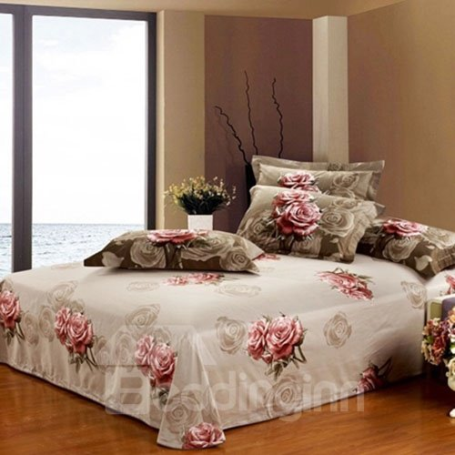 Beautiful and Big Flowers Printed Comfortable Cotton Printed Sheet