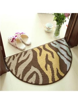 Popular Abstract Semicircle Machine Made Doormat