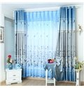Decoration and Blackout Fresh Style Nice Leaves Printing Custom Living Room Curtain