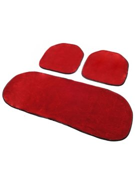 New Arrival Free Bindding 3-Piece Plush Car Seat Cushions