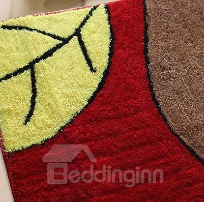 Wonderful Pretty Non-Slip Big Red Leaf Doormat