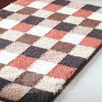 Top Quality Classic Grid Rectangular Doormat