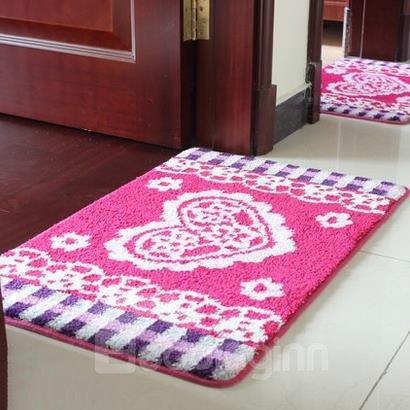 Top Quality Classic Heart Pattern Non-Slip Doormat