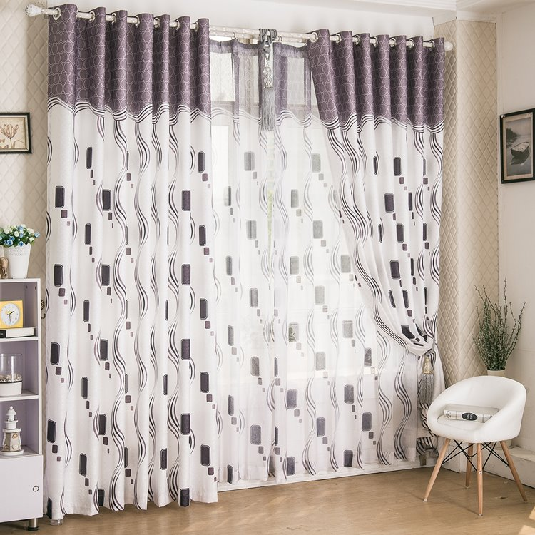 Trending Modern Design Half Shading Grommet Top Curtain