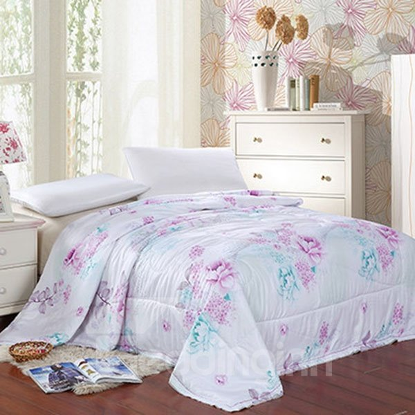 New Arrival The Blooming Peonies Printed Quilt