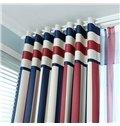 High Quality Stylish Multicolor Scheme Grommet Top Curtain