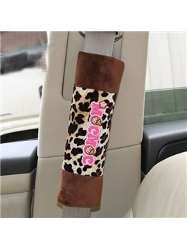 Cute And Fashionable Leopard Printed Seat Belt Cover