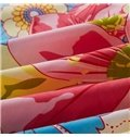 Colorful Flowers in Blossom Printed Fitted Sheet