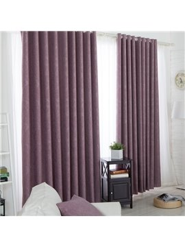 Contemporary Elegant Purple Thickening Grommet Top Curtain