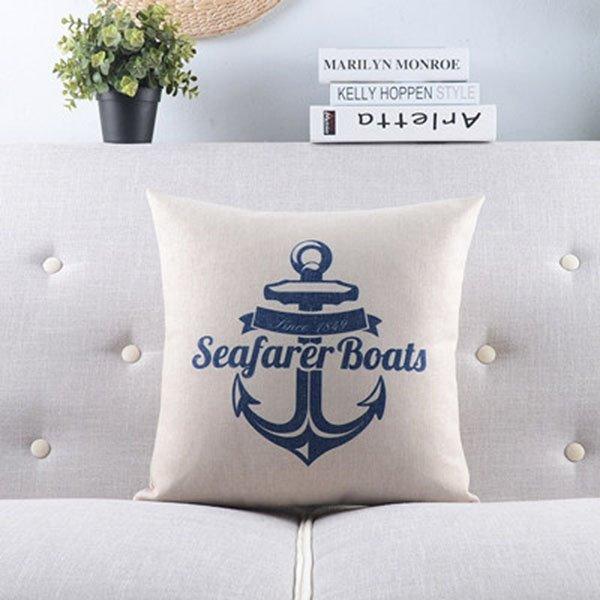 Concise Voyage Series--Anchor Throw Pillow